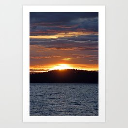 Long Lake Sunset Art Print