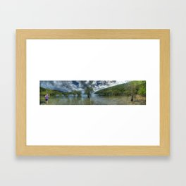 Butterfly Bay in colour Framed Art Print