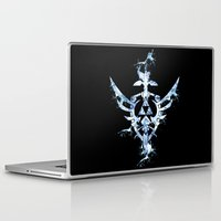 triforce Laptop & iPad Skins featuring Water Triforce by bivisual