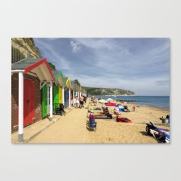 Swanage beach huts Canvas Print