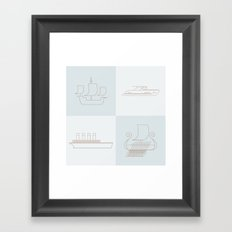 Then and Now Framed Art Print