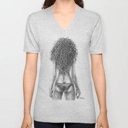 Curly girl Unisex V-Neck