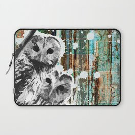 Rusty Owls in the Snow Laptop Sleeve