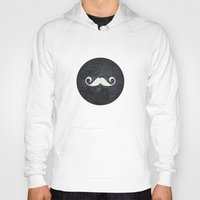 moustache Hoodies featuring moustache by StudioAmpersand