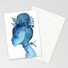 Indigo blue goddess Stationery Cards