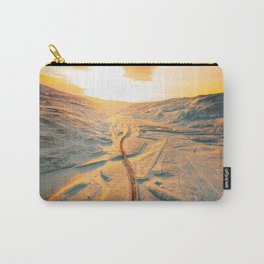 iceland road aerial view Carry-All Pouch
