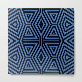 African Geometric Tribal Pattern 3 Metal Print