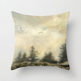 Morning on the Coast Throw Pillow