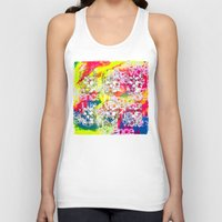ultraviolence Tank Tops featuring Ultraviolence 4i skull - mixed media on canvas by kakin