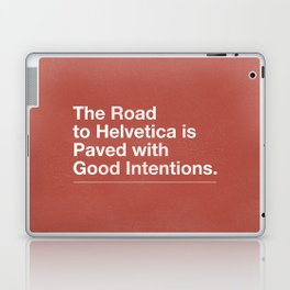 The Road to Helvetica Laptop & iPad Skin