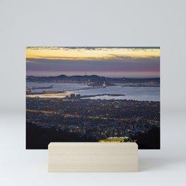 Magic Hour of the SF Bay Area Mini Art Print