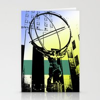 atlas Stationery Cards featuring Atlas by Amy Smith - ColorScape