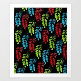 Red, Green and Blue Black Locust Art Print