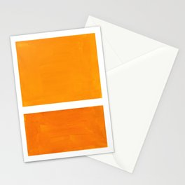 Antique Yellow  & Yellow Ochre Mid Century Modern Abstract Minimalist Rothko Color Field Squares Stationery Cards