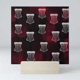 Corset pattern Mini Art Print