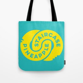 PineappleStaircase | Official Logocolor 2015 in Turquoise/Yellow Tote Bag