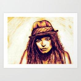 Just a Girl Art Print