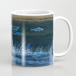 Trout Attack In Blue Coffee Mug