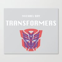 transformers Canvas Prints featuring Transformers by KevinACArter