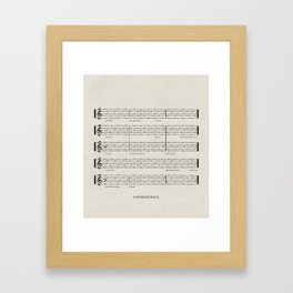 Everybody, let's rock Framed Art Print