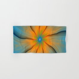 Cracked in Blue Orange and Green Hand & Bath Towel