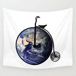 The bicycle of life Wall Tapestry