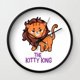 The Kitty King Lion long mane wig cute cartoon Wall Clock