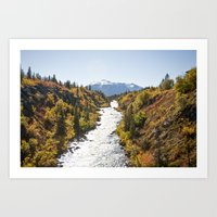 Tutshi River in Autumn Art Print