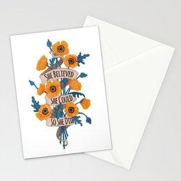 She Believed Stationery Cards