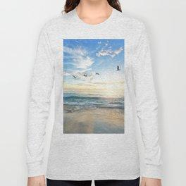 Ocean Beach Waves Sunset Photo Long Sleeve T-shirt