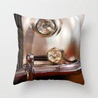 silver Throw Pillows featuring Silver by Lia Bernini