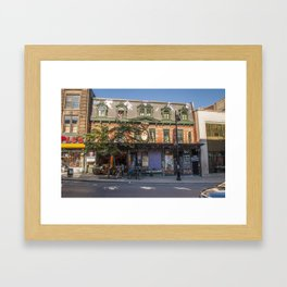 Montreal Clothing store Framed Art Print