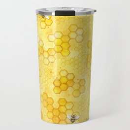 Meant to Bee - Honey Bees Pattern Travel Mug