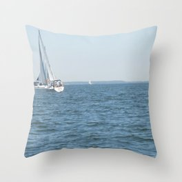Sweet Day On the Bay Throw Pillow