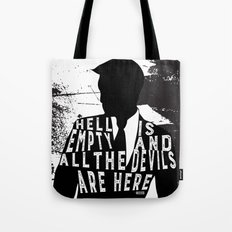 Shatter Me - Hell Is Empty Tote Bag