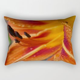Tiki Torch Lily Rectangular Pillow