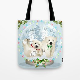 Snow globe bears Tote Bag