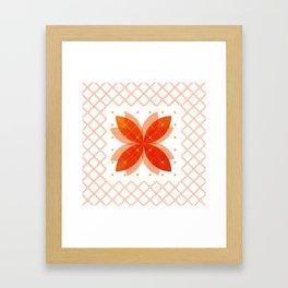 Orange Integration Pattern 3 Framed Art Print