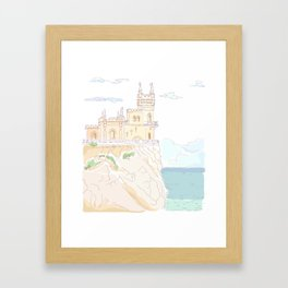 Old medieval castle. Wall art. Framed Art Print
