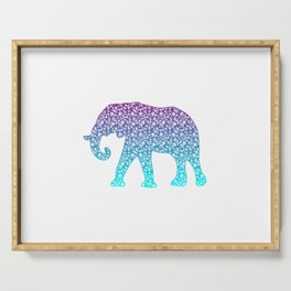 Cool Elephant Gift Design Elephants Wildlife Kids Adult Print Serving Tray