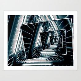 Path of Winding Rails Art Print