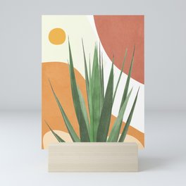 Abstract Agave Plant Mini Art Print