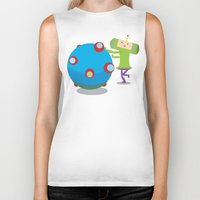 katamari Biker Tanks featuring Katamari Demacy by Of Lions And Lambs
