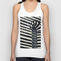 striped Tank Tops featuring Striped by farsidian