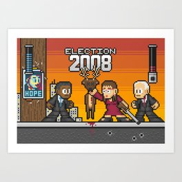 Pixelections: 2008 - Obama v. McCain Art Print
