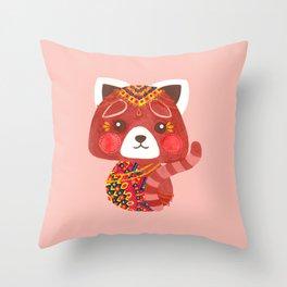 Jessica The Cute Red Panda Throw Pillow