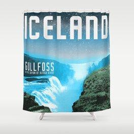 Iceland: Gullfoss Shower Curtain