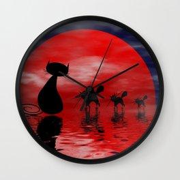 mooncats -3- Wall Clock