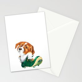 A little dog in a spike Stationery Cards