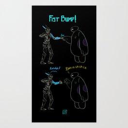 Fist Bump! Art Print